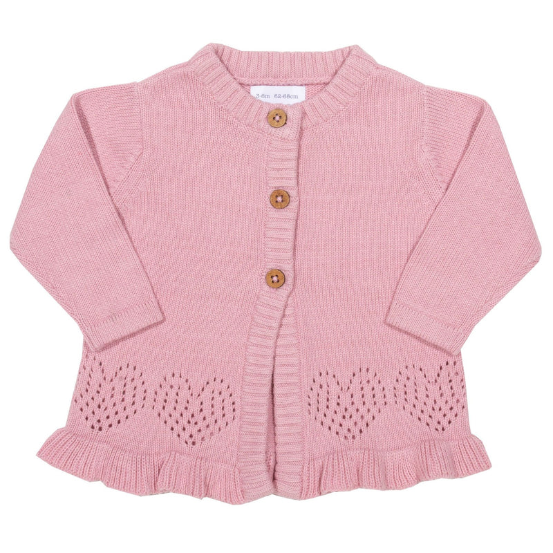 frugi Organic Cotton Embroidered Stars Cardigan