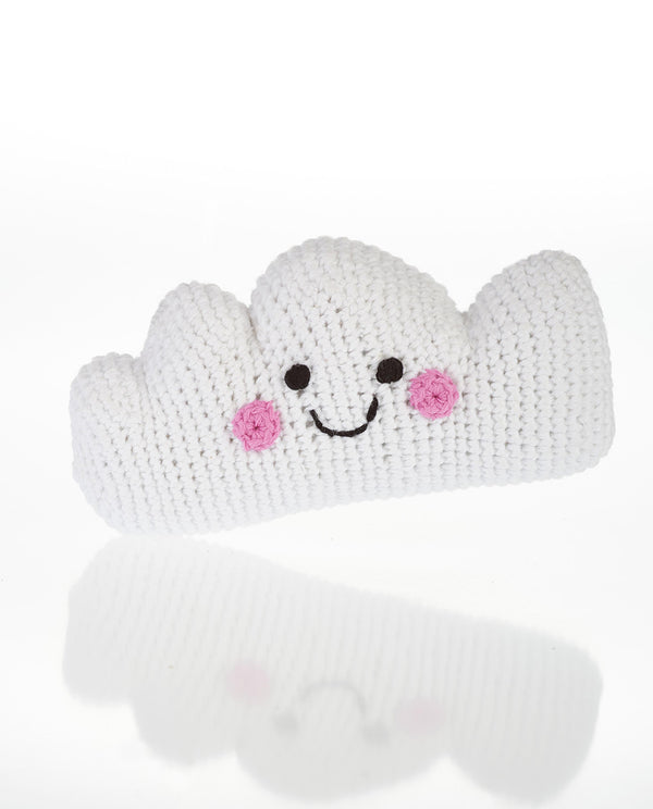 Fair Trade Hand Knitted Cloud Rattle