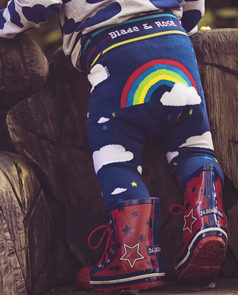 Blade and Rose Clouds & Rainbows Knitted Leggings