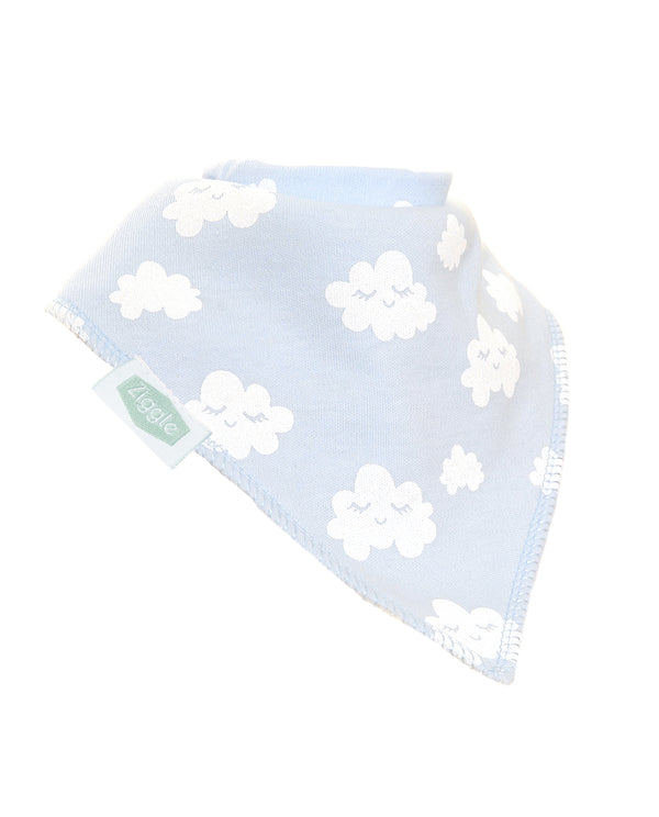 Ziggle Grey Clouds Bib