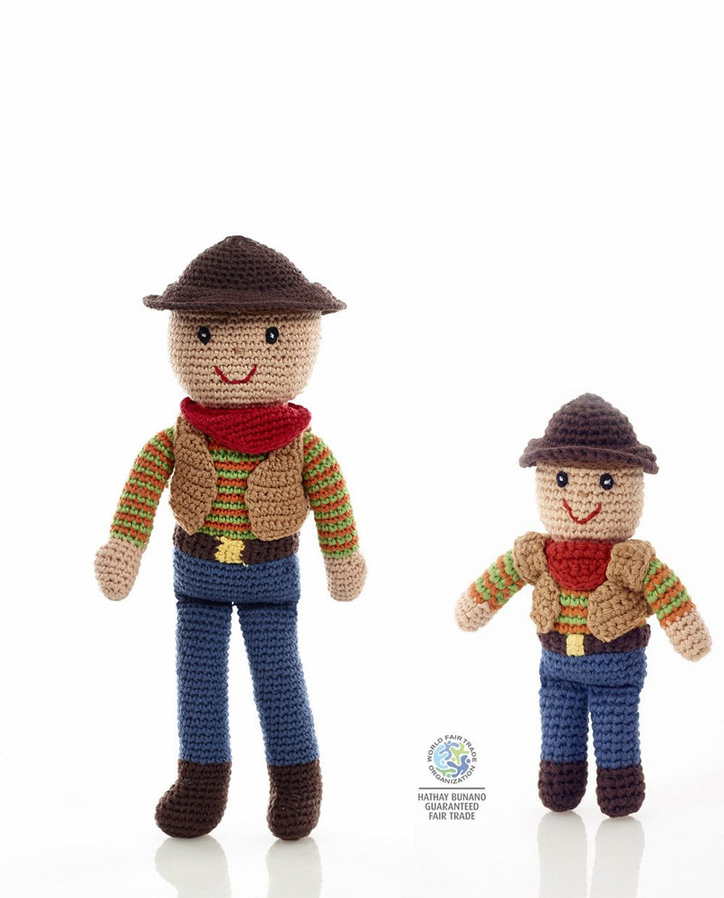 Pebble Toys Fair Trade Hand Knitted Cowboys