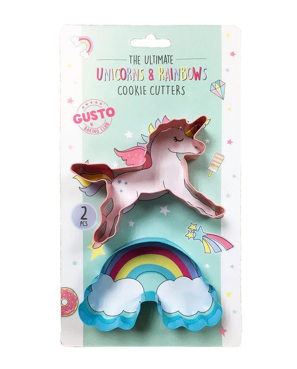 Gusto Kidz Unicorn & Rainbow Cookie Cutters