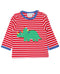 Organic Cotton Triceratops Dinosaur Applique T-Shirt toby tiger