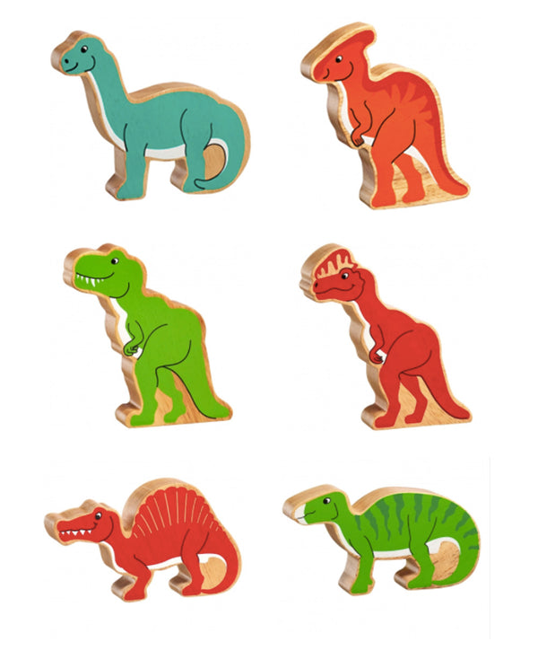 Individual Wooden Dinosaur Figures