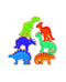 lanka kade Bag of 6 Wooden Dinosaurs