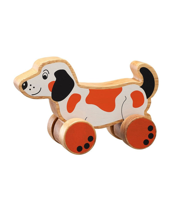 Wooden Push Along Toys lanka kade dog