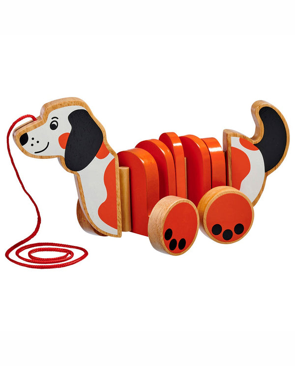 Lanka Kade Dog Pull-Along Wooden Toy