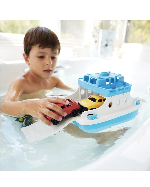 Green Toys Recycled Toys - Ferry Boat with Cars