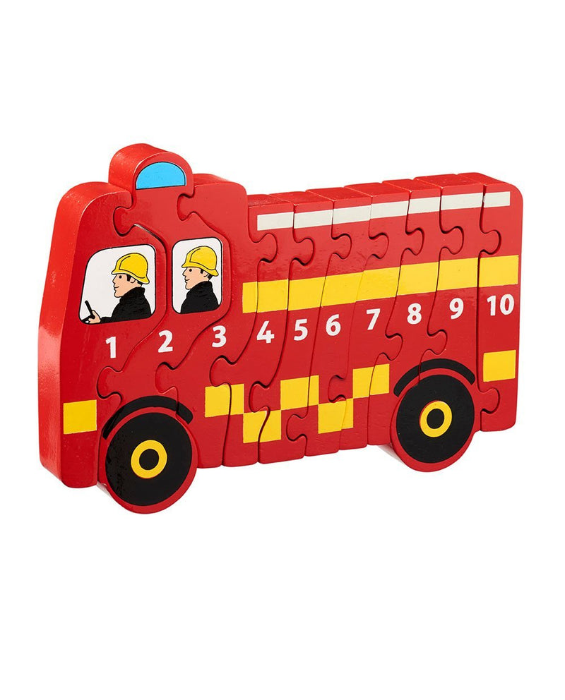 Wooden Fire Engine 1-10 Counting Jigsaw
