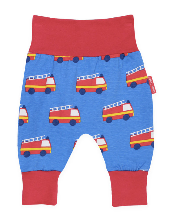 Toby Tiger Organic Cotton Fire Engine Design Yoga Pants