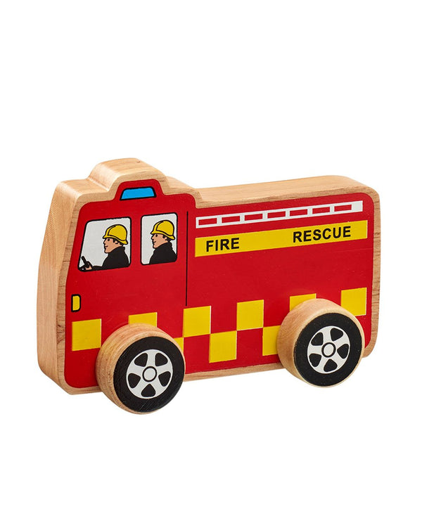 lanka kade Wooden Push Along Fire Engine