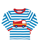 Toby Tiger Organic Cotton Fire Engine Long Sleeved T-shirt