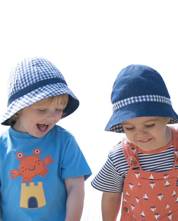 Toby Tiger Organic Cotton Knitted Hearts & Tulips Hat