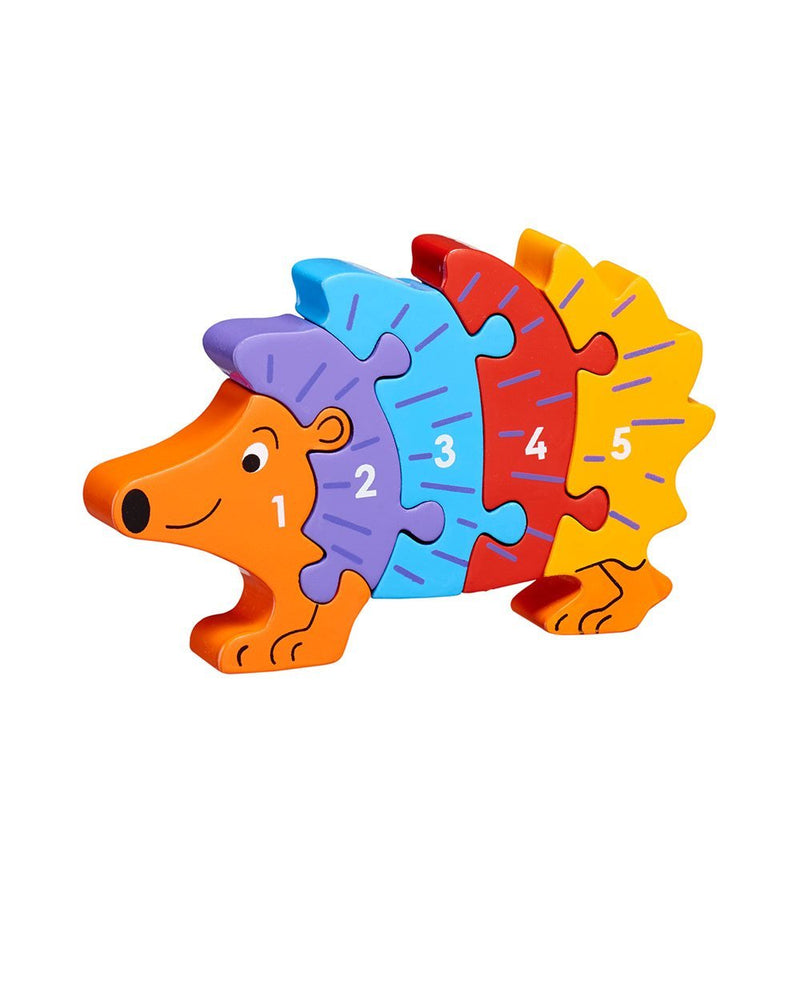 Wooden Hedgehog 1-5 Counting Puzzle