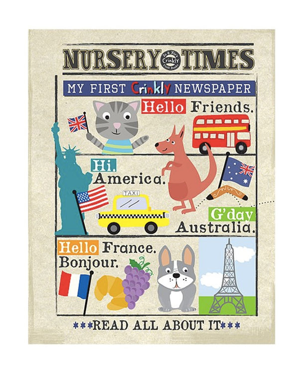 Hello Friends - Nursery Times Crinkly Newspaper