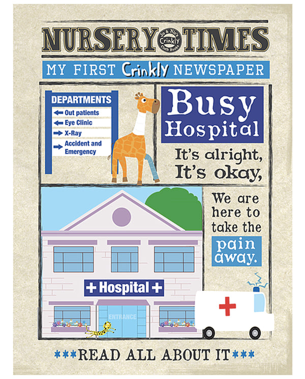 A Busy Hospital - Nursery Times Crinkly Newspaper