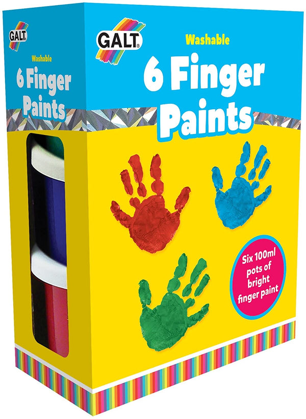 6 Finger Paints - Washable galt