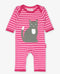 Organic Cotton Striped Kitten Dress