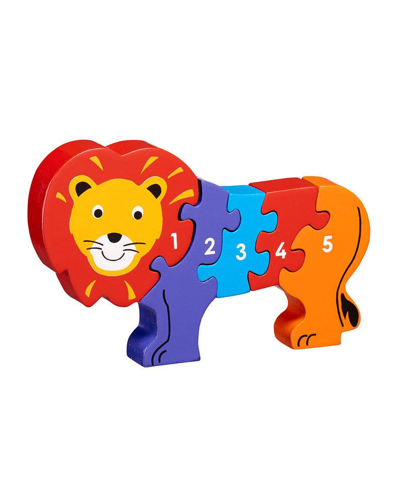 Wooden Lion Counting Puzzle Lanka Kade