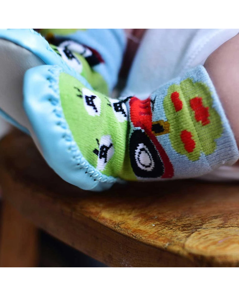Tractor Design Moccasin Slipper Socks