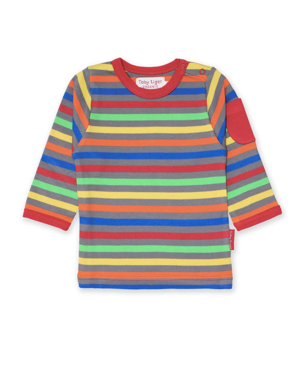 Toby Tiger Organic Cotton Multicoloured Long Sleeved T-shirt