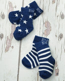 Blade and Rose Navy and White Stars & Stripes Socks