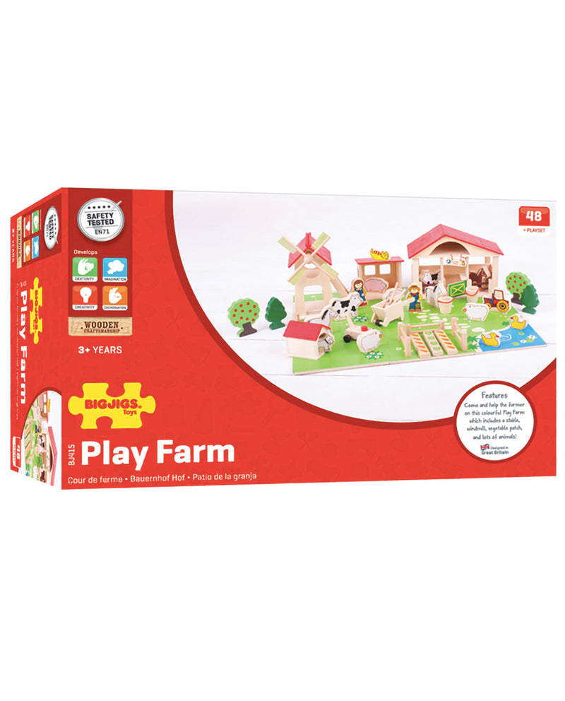 bigjibgs Wooden Play Farm Set
