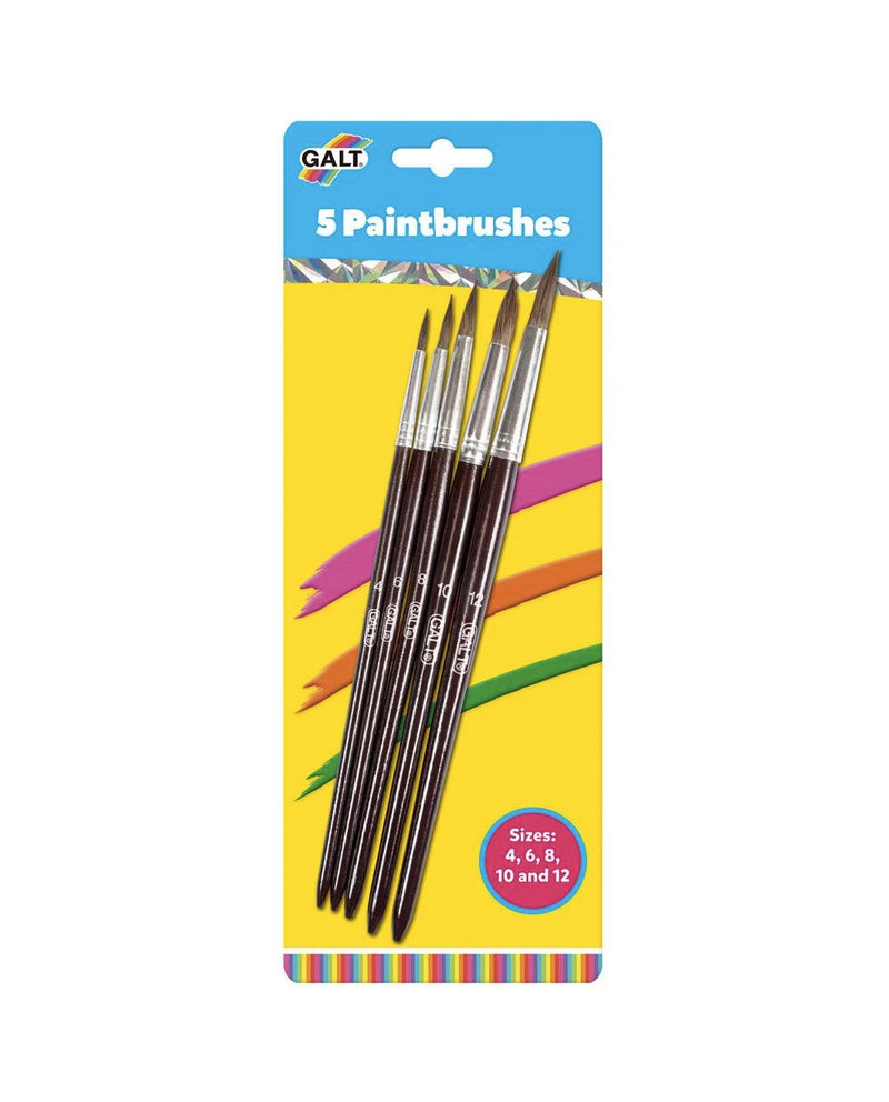 Galt Five Soft Paintbrushes