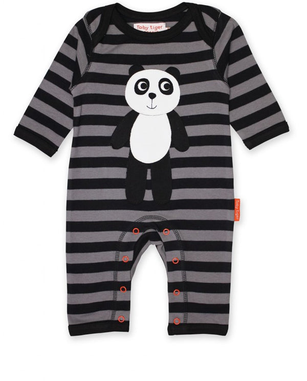 Toby Tiger Organic Cotton Panda Sleepsuit