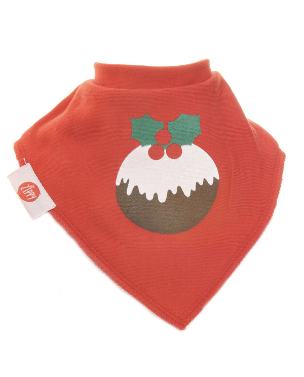 Ziggle Christmas Pudding Bib