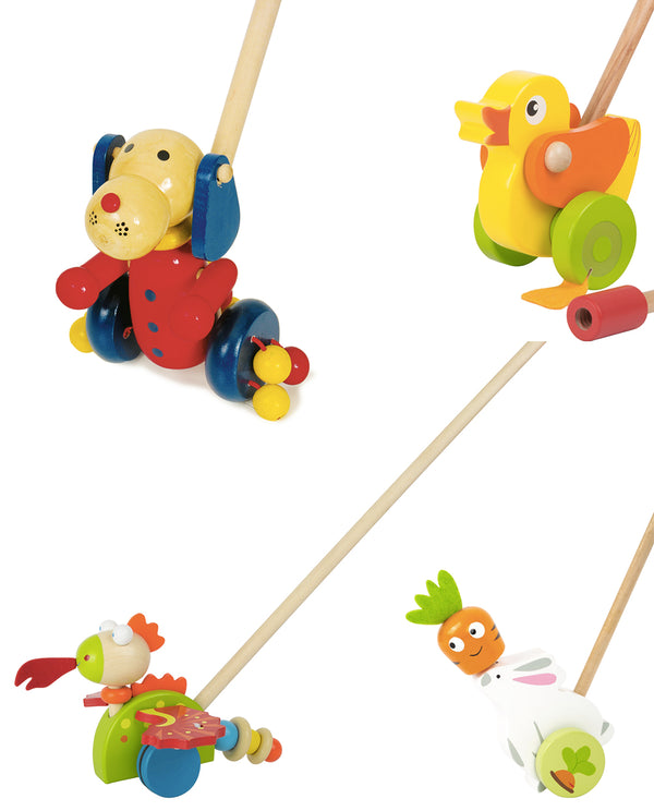 Push-Along Wooden Toys