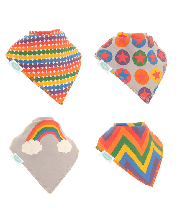 4pk of Rainbow Colours Bibs