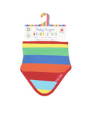 Toby Tiger Organic Cotton Rainbow Stripe Bib