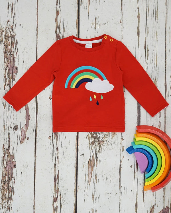Blade and Rose Rainbow Applique Long Sleeved Top