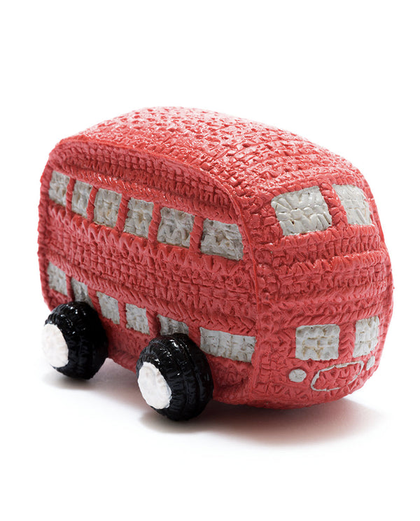 Natural Rubber Double Decker Bus Toy