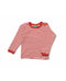 Pointelle Cotton Red Long Sleeve Top