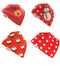 4pk of Red Christmas Bibs