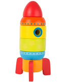 Wooden Stacking Rainbow Rocket