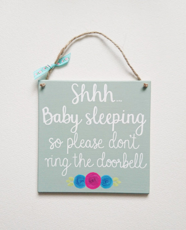 Baby's Sleeping Hanging Sign