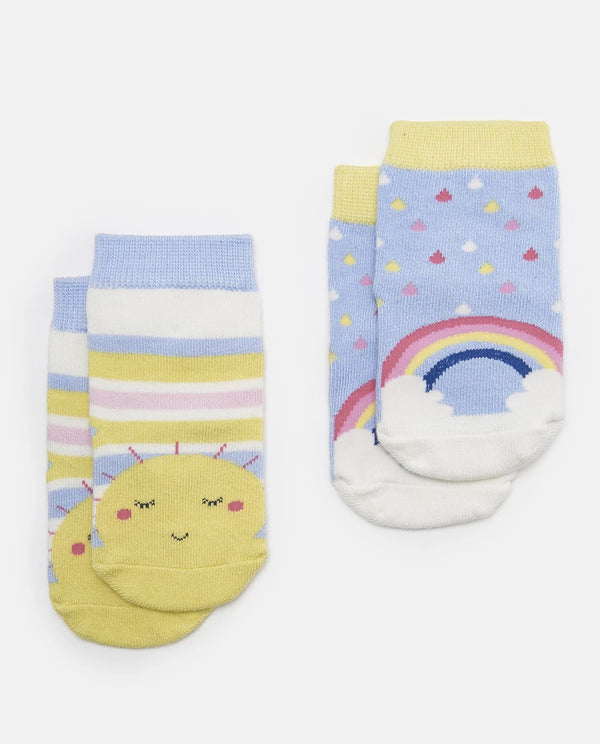 Joules Sunshine & Rainbow Two Pack of Socks