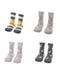 Ziggle 4Pk of Cotton Rich Socks in Greys