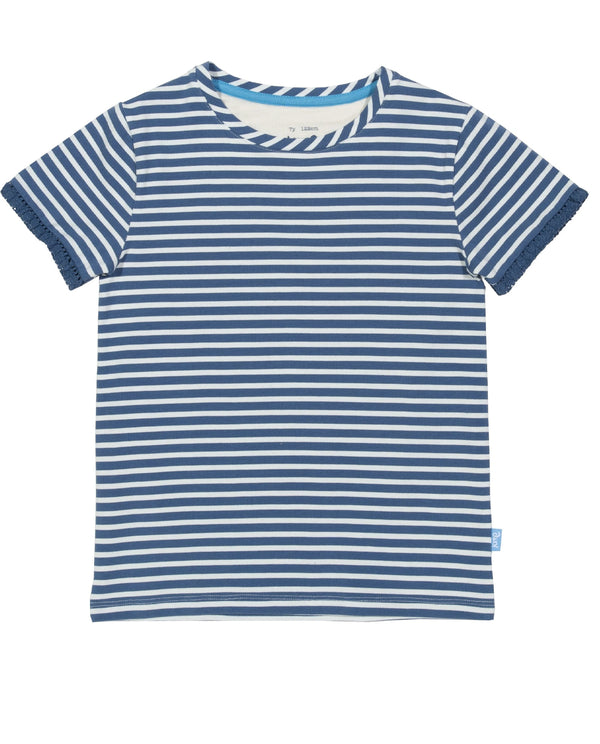 Kite Clothing Organic Cotton Striped Navy Top