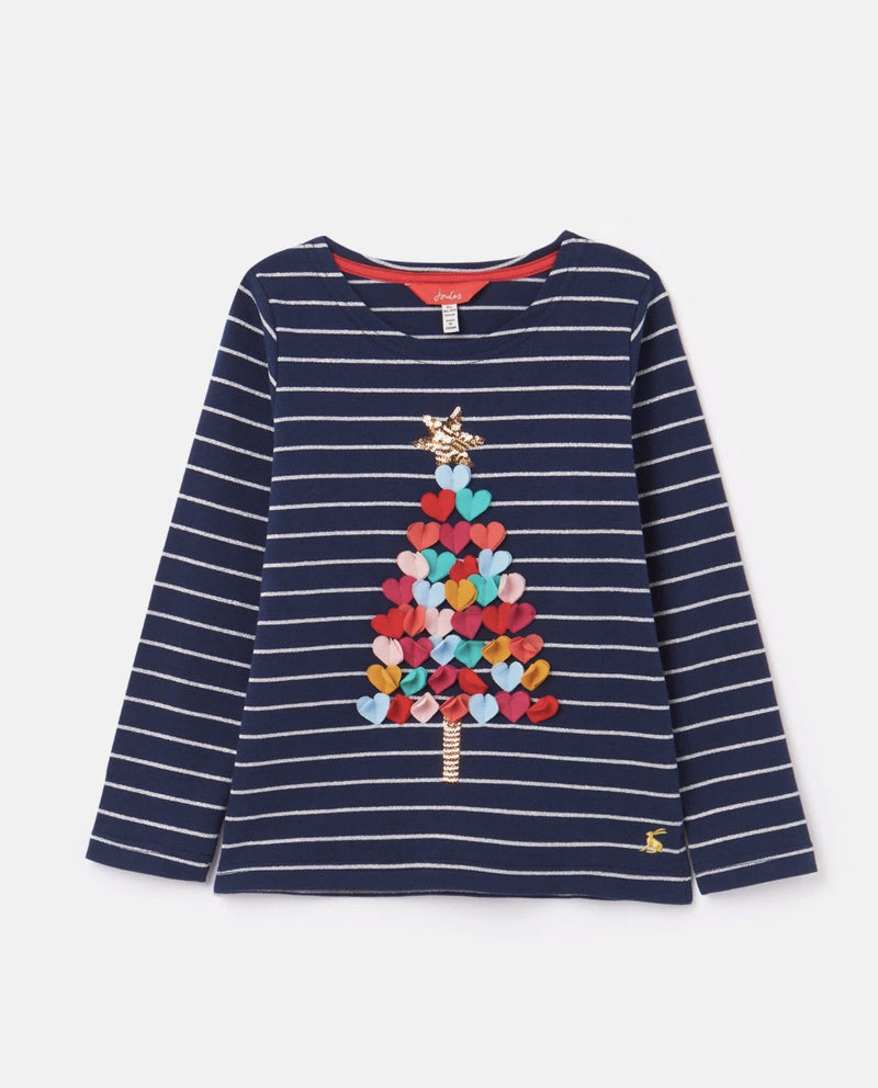 joules Embellished Christmas Tree T-Shirt