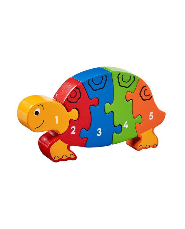 Wooden Tortoise 1-5 Counting Puzzle