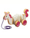 Unicorn Pull-Along Wooden Toy