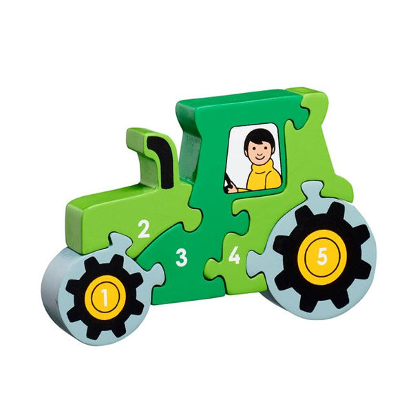 Wooden Tractor 1-5 Counting Puzzle