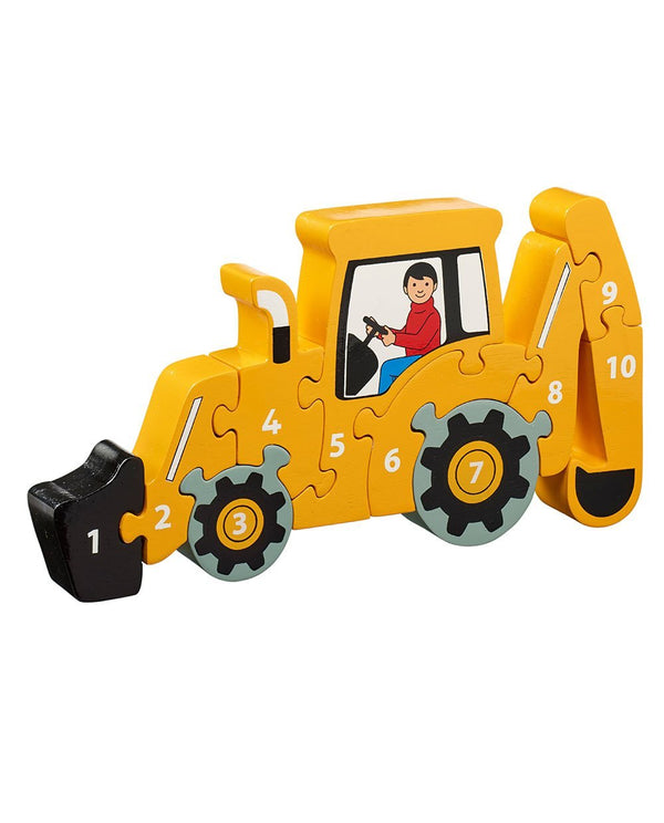 Wooden Digger 1-10 Counting jigsaw