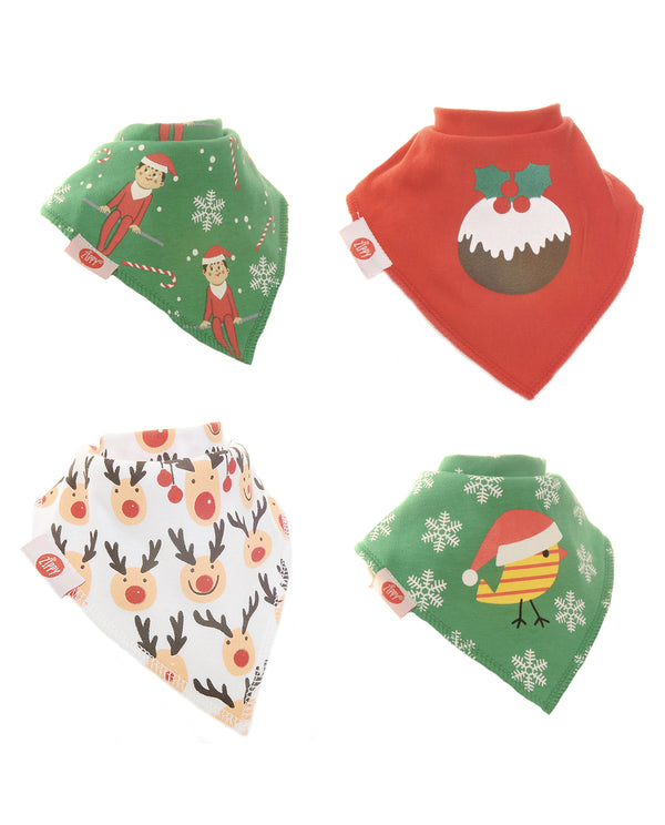 Ziggle 4pk of Christmas Bibs