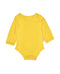Toby Tiger Organic Cotton Yellow Bodysuit Vest