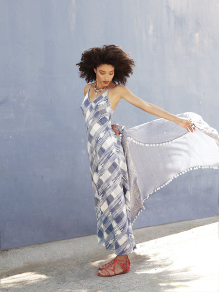 Checkered Maxi -BLUE